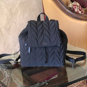 NWT kate spade quilted Backpack back to school
